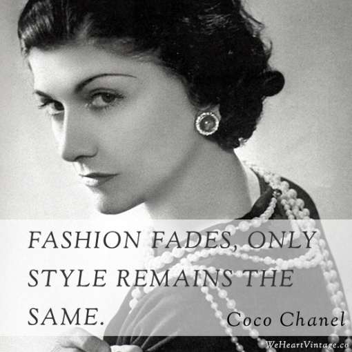 ethical fashion quote coco chanel