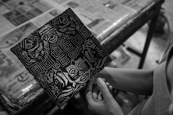 Batik Indonesia lino print, ethical fashion